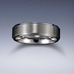 STYLE 3: Stainless Steel Tri-Band Brushed Flat Comfort Fit Name Ring 6mm